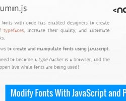 Modify Fonts With JavaScript and Plumin.js