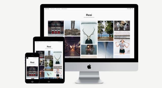 Resi: Clean Photoblog WordPress Themes