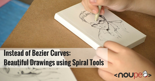 Instead of Bezier Curves: Beautiful Drawings using Spiral Tools