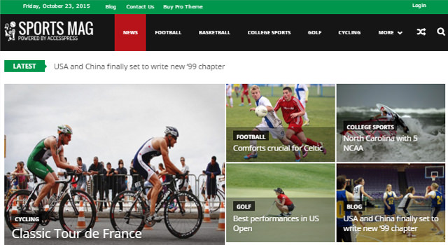 SportsMag: Magazine & News WordPress Theme
