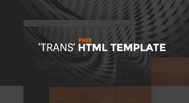 Trans: Free Minimal HTML Template