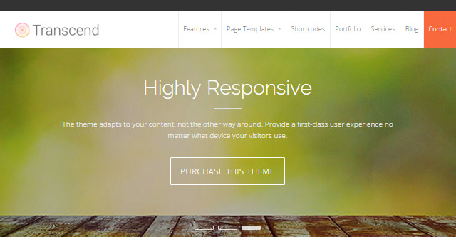 Transcend: Clean Business WordPress Theme
