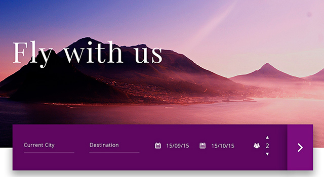 Travel-related Website PSD Template