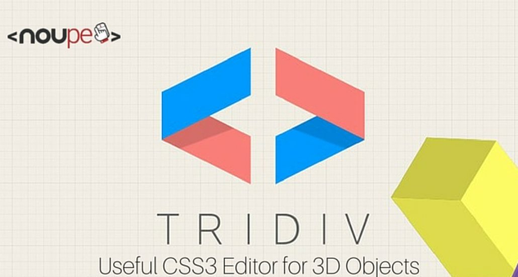 Tridiv: Useful CSS3 Editor for 3D Objects