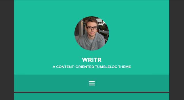 Writr: Minimal Blogging WordPress Theme
