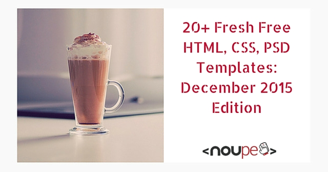 20 Fresh and Free HTML and PSD Templates plus GUI Packs: December 2015