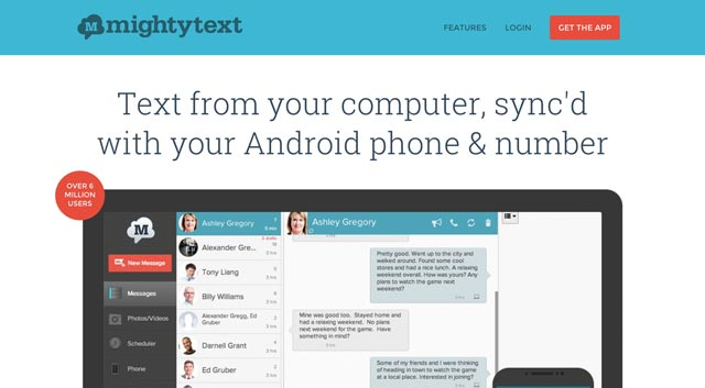 MightyText Website