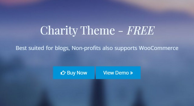 Charity: Non-profitable Organizations WordPress Themes