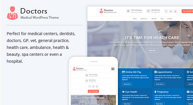 Doctor: Medical WordPress Theme