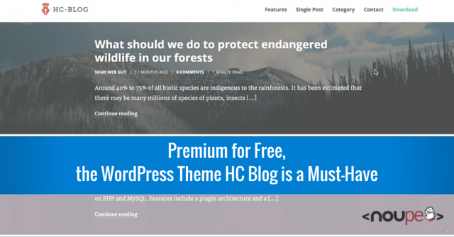 Premium for Free, the WordPress Theme HC Blog is a Must-Have