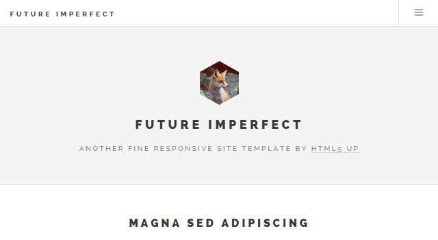 Future Imperfect: Clean & Moden Blogging HTML Template