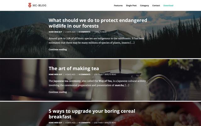 HC Blog - das neue Free Premium WordPress-Theme