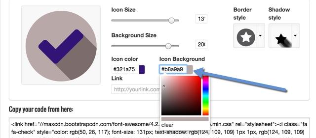 iconmakerwerkzeugefarbe