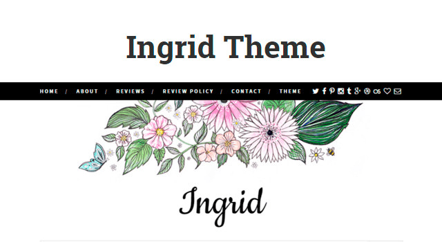 Ingrid: Clean Static WordPress Theme