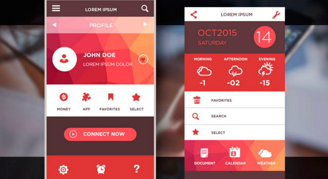 Low Poly Mobile iOS UI Kit