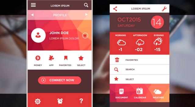 Low Poly Mobile iOS UI Kit