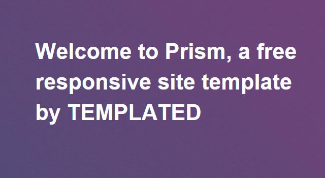 Prism: Multipurpose Clean HTML Template