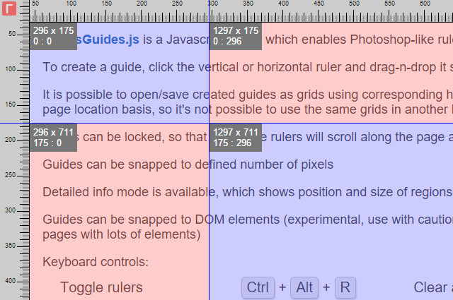 RulersGuides.js: Photoshop-inspired Web Design Helper Tool