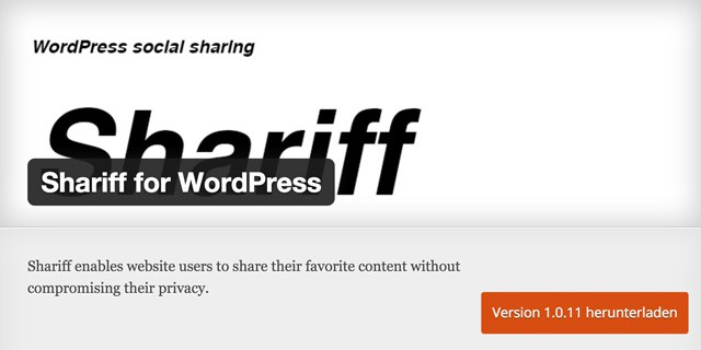 Shariff für WordPress