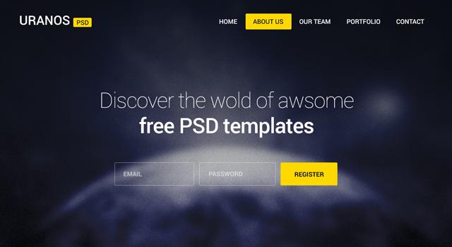 Uranos: Agency Website PSD Template