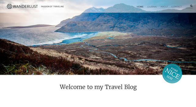 Wanderlust: Clean Blogging WordPress Theme