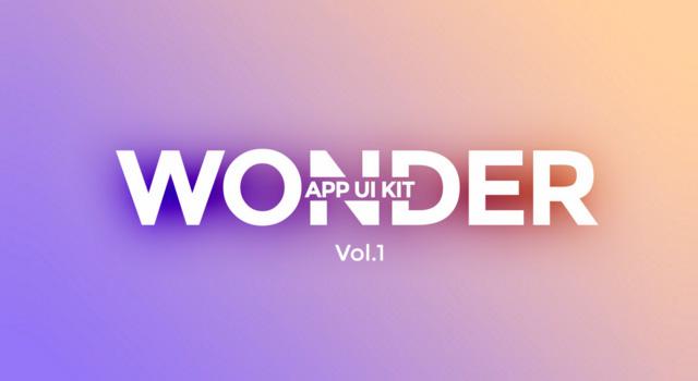 Wonder: Pastel Schemed Mobile App UI Kit