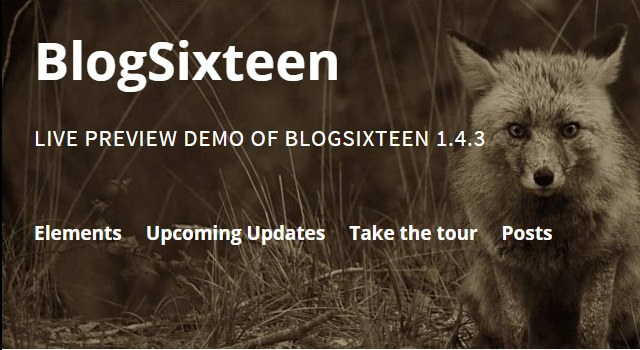 BlogSixteen: Free Blogging WordPress Theme