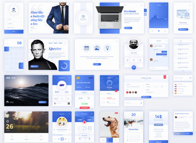 blue ui kit