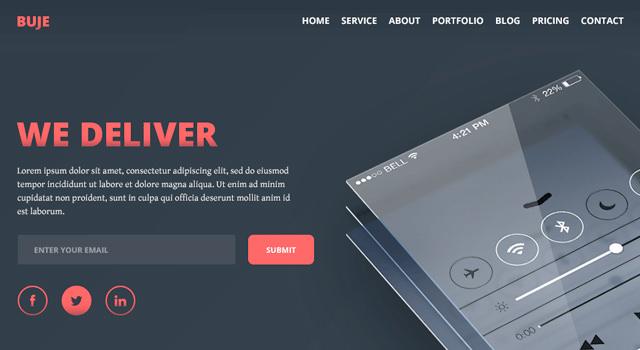 Buje: Landing Page HTML Template