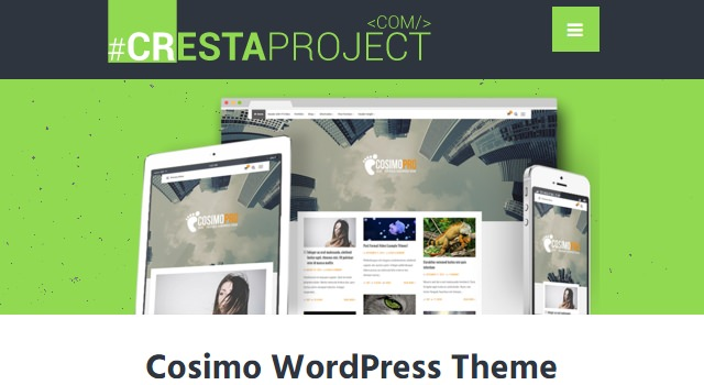 Cosimo: Blogging & Portfolio WordPress Theme