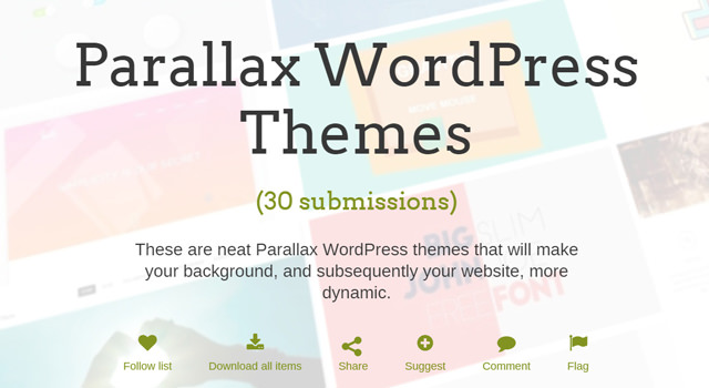 Curated Bundle of Parallax WordPress Themes