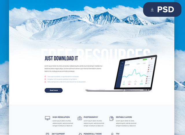 Best of 2015 100 free psd website templates noupe enyo psd template pronofoot35fo Choice Image
