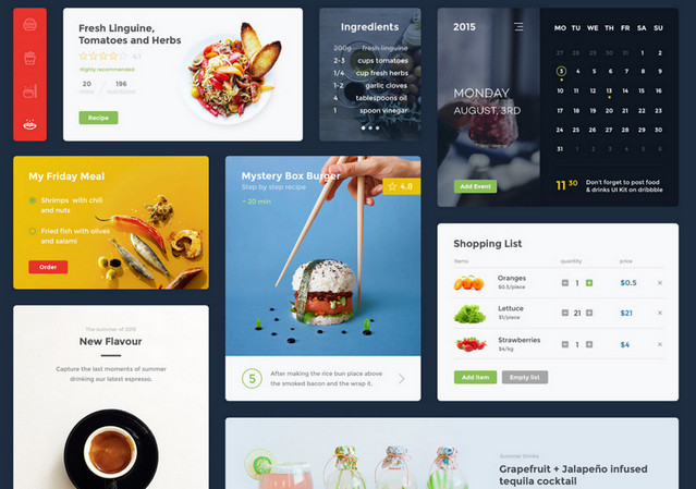 food and drink ui