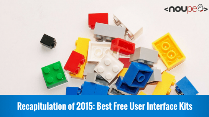 Recapitulation of 2015: Best Free User Interface Kits