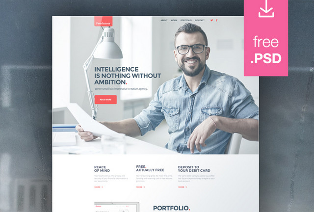 freelance website template