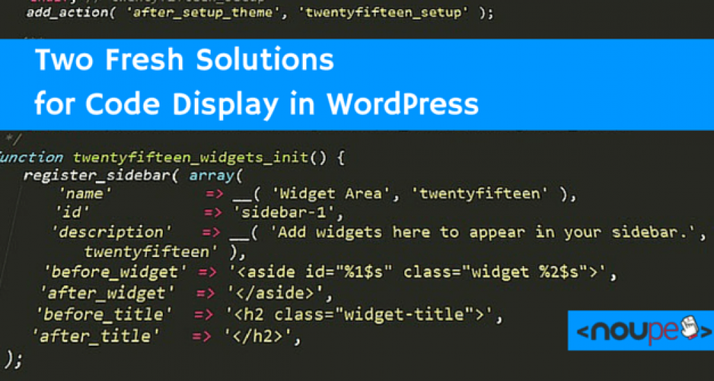 Two Fresh Solutions for Code Display in WordPress