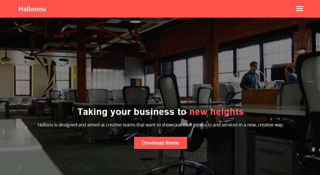 Hallooou: Multipurpose HTML5 Responsive Template