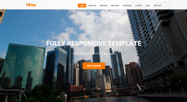 Himu: Responsive Bootstrap Template