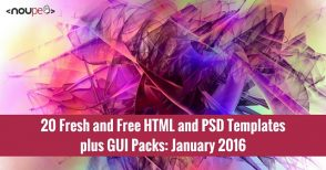 20 Fresh and Free HTML and PSD Templates plus GUI Packs: January 2016