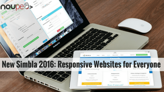 New Simbla 2016: Responsive Websites for Everyone