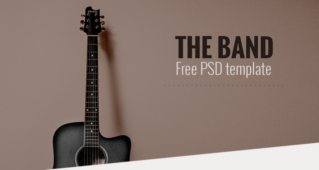 the band - psd template