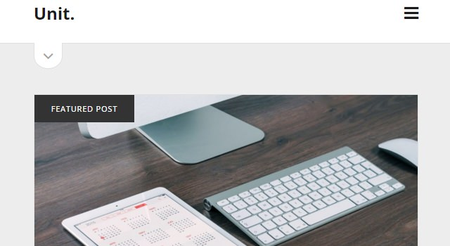 Unit: Clean Blogging WordPress Theme