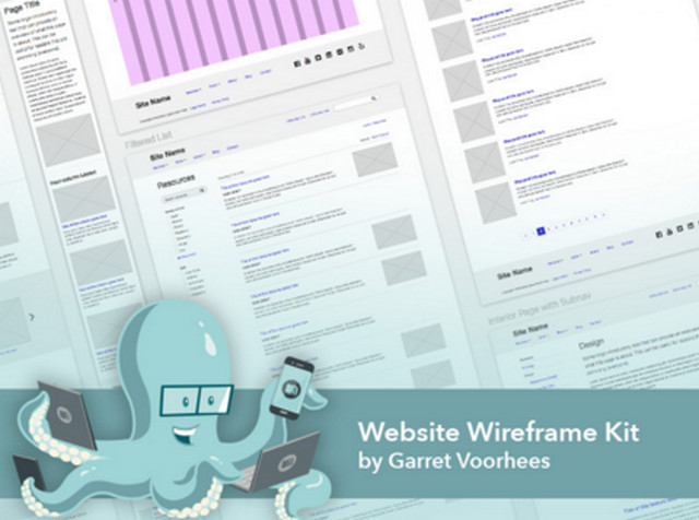 website wireframe kit