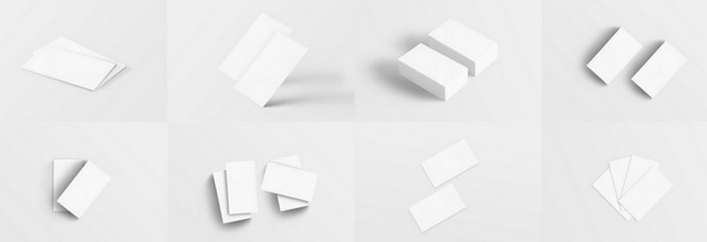 8 b-card mockups
