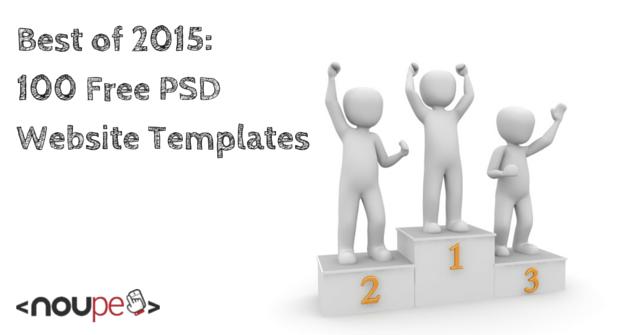 Best of 2015: 100 Free PSD Website Templates