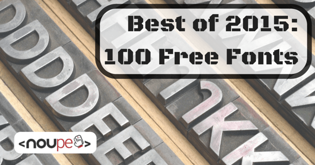 Best of 2015: 100 Free Fonts