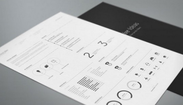 b&w resume template