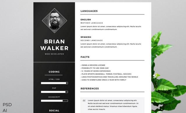 b&w resume