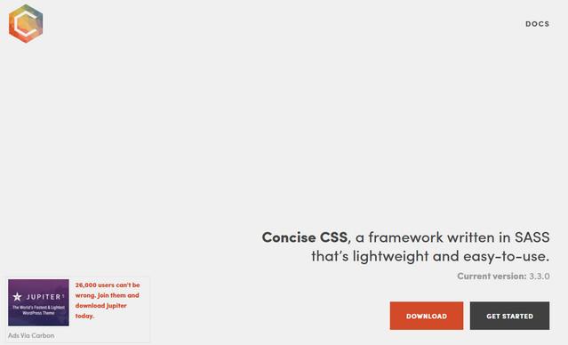 concise css framework