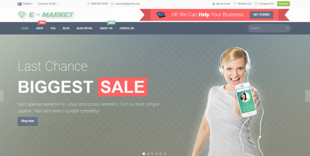 e-market theme